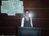 Меркотан К. на практике в гостинице Холидей Инн